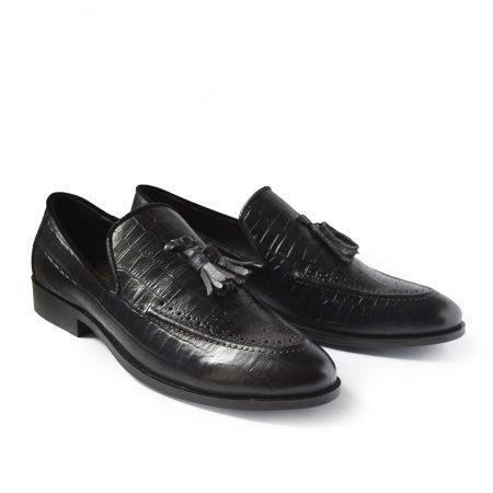 Buy Mens Black Leather Loafers