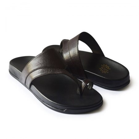 Brown thong slippers