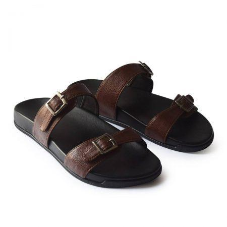 Brown Double strap Sandals